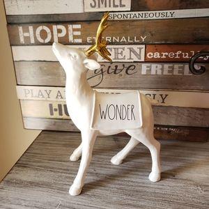 Rae Dunn Christmas Wonder Reindeer Gold Antlers